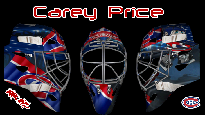 carey price new mask. Carey Price New Mask 2011